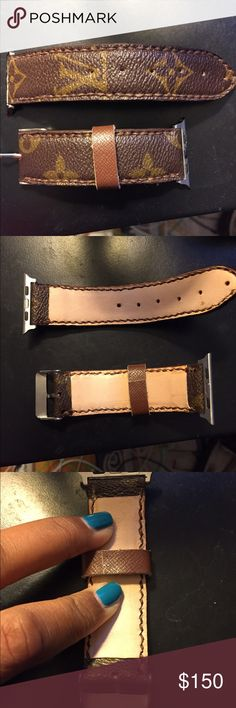 Louis Vuitton Apple Watch 42mm band Authentic Louis Vuitton canvas. Fits 42mm Apple Watch. No trades. Will consider offers. Accessories Watches