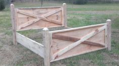Barn Wood Bed Frame made from reclaimed wood in by CountryBedroom, $400.00
