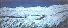 The big White. Acryl auf Holz, 100 x 240 cm, Malerei von Willi Gottschalk Waves, Big, Gallery, Outdoor, Painting Art, Outdoors, Roof Rack, Ocean Waves, Outdoor Games