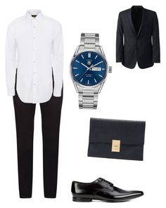 """""""Business man"""" by vallie-evans on Polyvore featuring Dolce&Gabbana, Paul Smith, TAG Heuer, Thom Browne, Lands' End, men's fashion and menswear"""