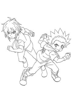 Beyblade Burst coloring page | Cartoon coloring pages ...
