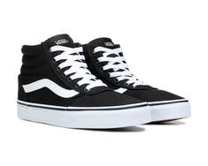 58ddb1f326caf3 Vans Ward High Top Sneaker Black White Vans Sk8