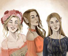 Archeron sisters by jessdoodlesthings. Feyre. Elain. Nesta. ACOTAR. ACOMAF. ACOWAR. A Court of Thorns and Roses. A Court of Mist and Fury. A Court of Wings and Ruin. Sarah J Maas.