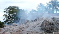 Burning mountain, Australia, is a natural coal fire that has been burning for over 6,000 years.