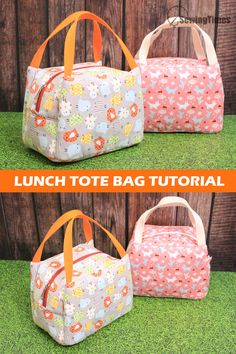 Sac Lunch, Lunch Tote Bag, Picnic Bag, Handbag Patterns, Bag Patterns To Sew, Types Of Handbags, Insulated Lunch Bags, Tote Bag Tutorials, Diy Bags