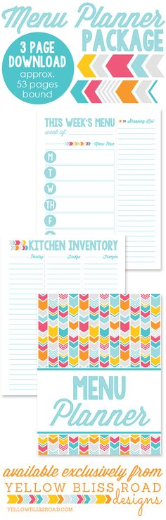 Menu Planner Pin Length Graphic