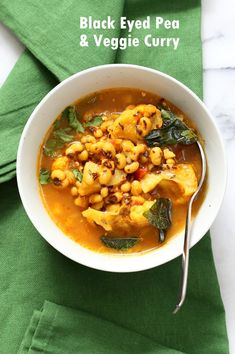This Coconutty Black Eyed Pea stew with Cauliflower and Potatoes is hearty and delicious. Instant Pot Black Eyed Pea Curry with vegetables. Vegan Gluten-free Soy-free Nut-free This. Vegan Indian Recipes, Vegetarian Recipes, Cooking Recipes, Healthy Recipes, Vegan Soups, Healthy Food, Korma, Pea Recipes, Curry Recipes