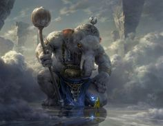 White Elephant by Tianhua Xu Tags: Fantasy, World, Mythical Fantasy Artwork, Fantasy Images, Digital Art Illustration, Design Spartan, Fantasy Kunst, Art Graphique, Fantasy Inspiration, Creature Design, Mythical Creatures