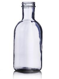 16 oz Clear Glass Stout Sauce Bottle 38-400 : Sauce/Syrup Bottles