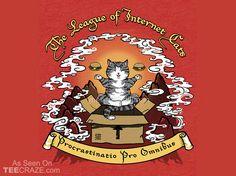 The League Of Internet Cats T-Shirt - https://teecraze.com/league-internet-cats-t-shirt/ -  Designed by meredithdillman   You May Also Like                          God Among Men T-Shirt                                       Bounty Hunters Showdown T-Shirt