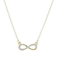 Gold Diamante Infinity Necklace