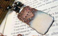 Courage Is  Copper and Freshwater Pearl by SilverRoseDesigns, $50.00