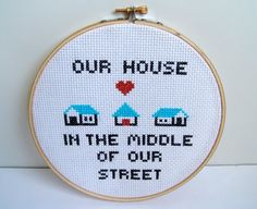 Image result for our house madness cross stitch