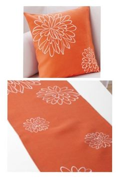 Pillow cover and runner shop now https://www.signaturehomestyles.biz/esuite/home/Athome_3020/products