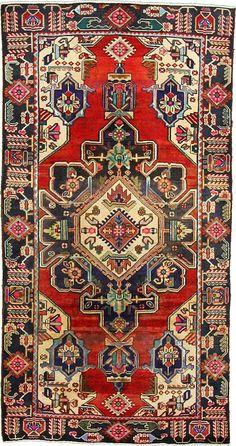 Red 5' 0 x 9' 8 Tribal Bakhtiar Rug   Persian Rugs   eSaleRugs