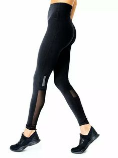 Get your workout on in style with these high-compression leggings from Savoy Active. This Energique Athletic Leggings With Reflective Strips and Mesh Panels is very flattering, and they work well in all temperatures. Thermal Comfort, Hip Bones, Fabric Strips, Mesh Panel, Athletic Wear, Active Wear, Leggings, Fashion Outfits, Casual Outfits