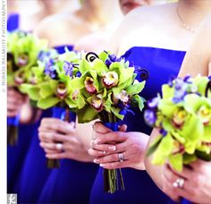 What goes great with royal blue bridesmaids dresses?  Take a look...