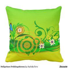 Hellgrünes Frühlingskissen Kissen