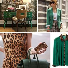 green and leopard print