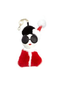 Shop the STACE FACE FUR CHARM from Alice + Olivia.