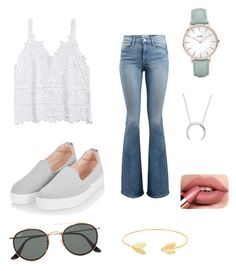 """Summer vives 🌴"" by clarafabraauger on Polyvore featuring moda, Frame, Topshop, Ray-Ban, Lord & Taylor y CLUSE"