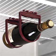 Chill and Store Wine While Saving Space!  What a practical idea!  I've come across a link for purchasing these at http://www.thetipsygrape.com/Refrigerator-Bottle-Holdups-Prodview.html (The last I checked they are not available at Walter Drake)  These are so practical & would also make a great hostess gift or otherwise gift.