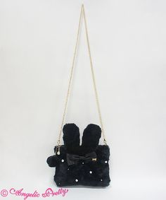 Angelic Pretty: Snow Bunny pouch in black