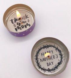 Teelicht mit Botschaft selber machen Muttertag