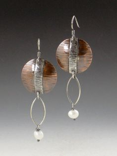 Hey, I found this really awesome Etsy listing at https://www.etsy.com/listing/203743085/copper-disc-and-pearl-mixed-metal