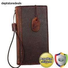 genuine italian leather case for Nokia Lumia 920 book wallet cover brown slim uk Slim Leather Wallet, Handmade Leather Wallet, Leather Gifts, Cell Phone Wallet, Iphone Case, Kydex Holster, Natural Leather, Vintage Leather, Italian Leather