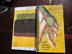 Planner cover for this transfer, based on a Mark Rothko card Adele sent me