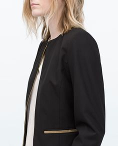 ZARA - WOMAN - GOLD ZIP BLAZER