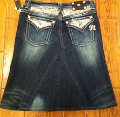 Miss me skirt I will make me one got plans too next time I can get my hands on some used miss me jeans :)