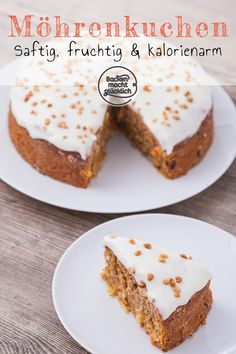 Juicy healthy carrot cake Baking makes you happy- Saftiger gesunder Karottenkuchen Healthy Carrot Cakes, Healthy Dessert Recipes, Baking Recipes, Cake Recipes, Snack Recipes, Loaf Recipes, Gateaux Cake, Cake Tins, Savoury Cake