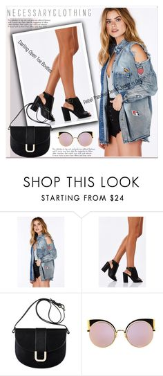 """""""Rebel Patched Denim Jacket"""" by paculi ❤ liked on Polyvore featuring A.P.C., Fendi, denim, booties and jacket"""