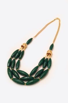 Emerald Chunky Necklace by adropofgrace on Etsy, $72.00