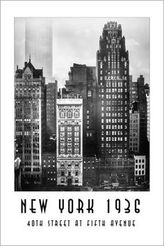 Christian Müringer - Historisches New York, Street at Fifth Avenue New York Poster, Willis Tower, New York Skyline, Christian, Street, News, Building, Travel, Photos