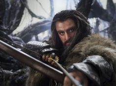 Thorin. Not his weapon of choice, but a dwarfs got to do what a dwarf has got to do...