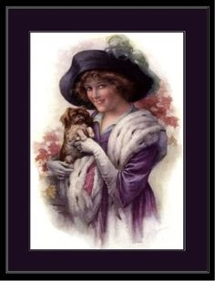 English-Picture-Print-Pekingese-Dog-Victorian-Art