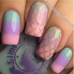Pastel Easter nails by @nailingaround, using Lime Crime polishes!