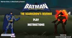 Batman Scarecrow Revenge game online Online Games For Kids, Play Online, Batman Games, Brave And The Bold, T Play, Animation Series, Warner Bros, Free Games, Revenge