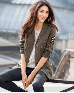 military jacket  http://www.laredoute.gr/SOFT-GREY-Sakaki-se-militer-stul_p-254517.aspx?prId=324412675
