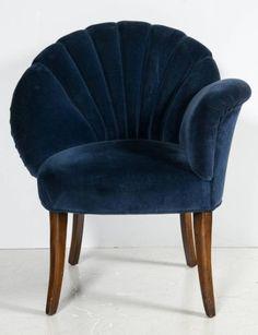 Pair of Art Deco Velvet Chairs #artdeco
