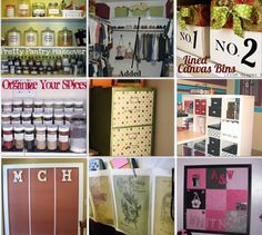 32 of the best organizing tips brought to you by Laurie at Tip Junkie. She truly has some cute ideas!