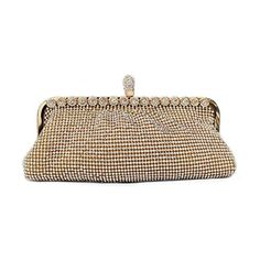 GOOD_GOODS Women Crystal Ring Evening Clutch Bag Rhinestone Hand Bag Gold