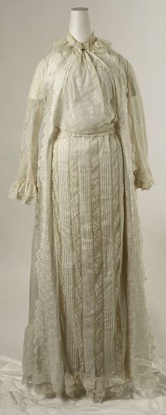 1880 Tea Gown  Culture: American