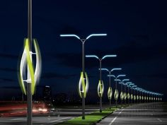Delightful Could Passing Cars Power Wind Turbines On Highway Lights?!!! Cool Concept Gallery