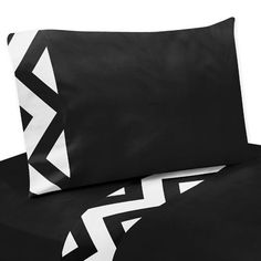 Black and White Chevron Twin and Queen Childrens and Teen Bedding Sheet Sets