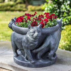3 Cats Planter | Kinsey Garden Decor