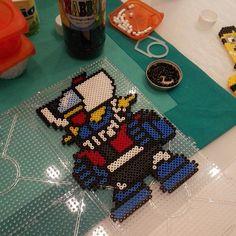 Mazinger Z hama beads by latanadelconiglio